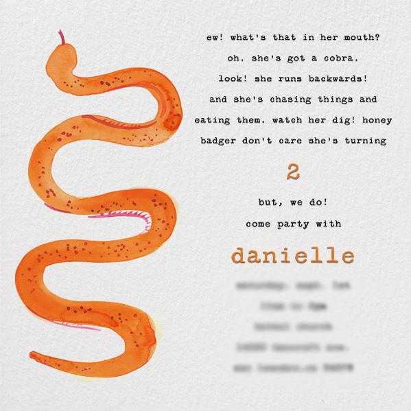 Danielle's 2nd birthday invite